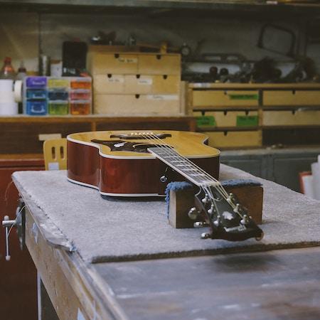 Guitar in for repair work